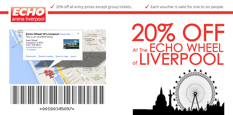 20% OFF AT Echo Wheel of Liverpool