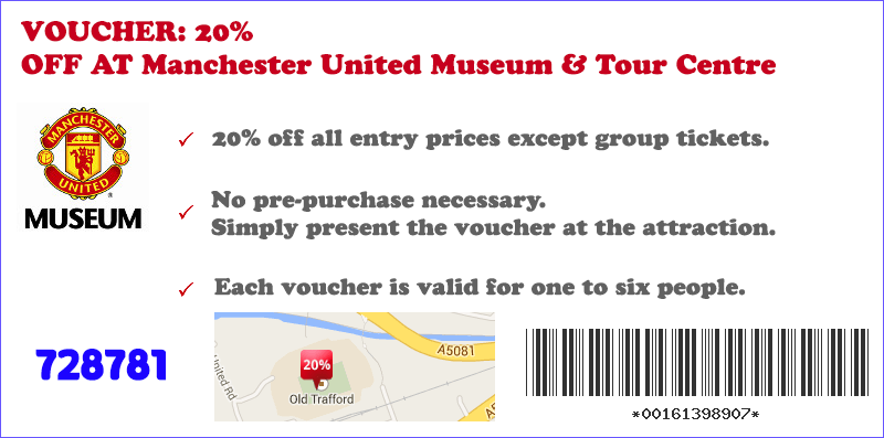 20% OFF at Manchester United Museum