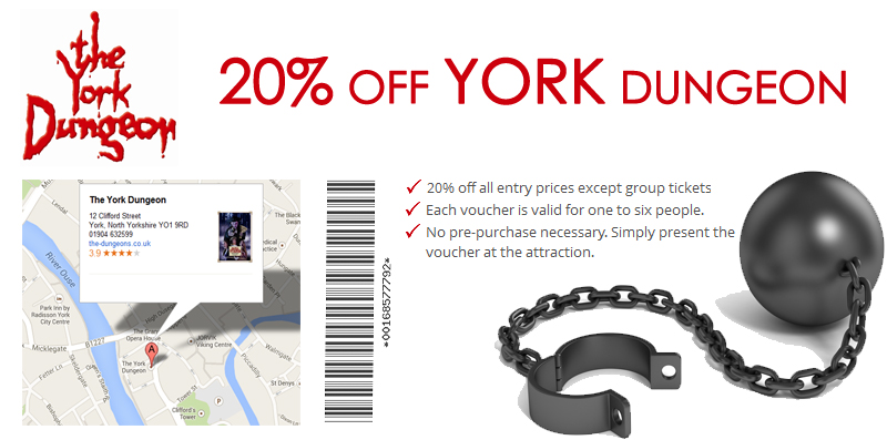20% OFF AT York Dungeon